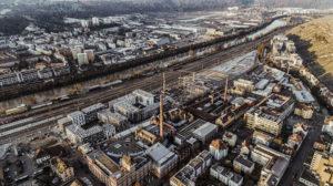A bird's eye view of the future climate-neutral urban quarter in Esslingen © City of Esslingen