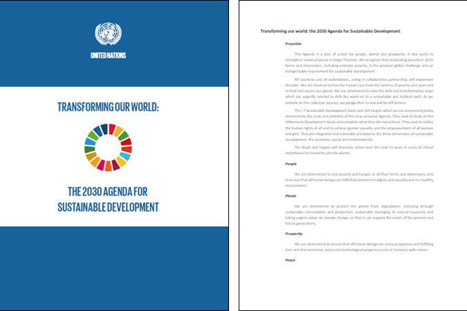 Agenda 2030 sustainable development goals