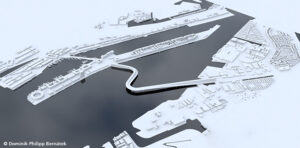 """The """"Living Bridge Amsterdam"""" is intended to connect North Amsterdam with the city centre."""