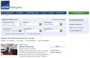 Produktdatenbank im DGNB Navigator
