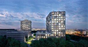 Wohnhochhäuser am Hirschgarten in München (Bauherr: LBBW, Architekt: Allmann Sattler Wappner Architekten)