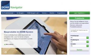Die Plattform für Bauprodukte bei der DGNB: der DGNB Navigator
