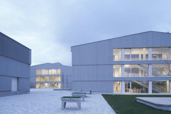 Schmuttertal-Gymnasium Diedorf Architekten: Architekten Hermann Kaufmann ZT GmbH Foto: Stefan Müller-Naumann
