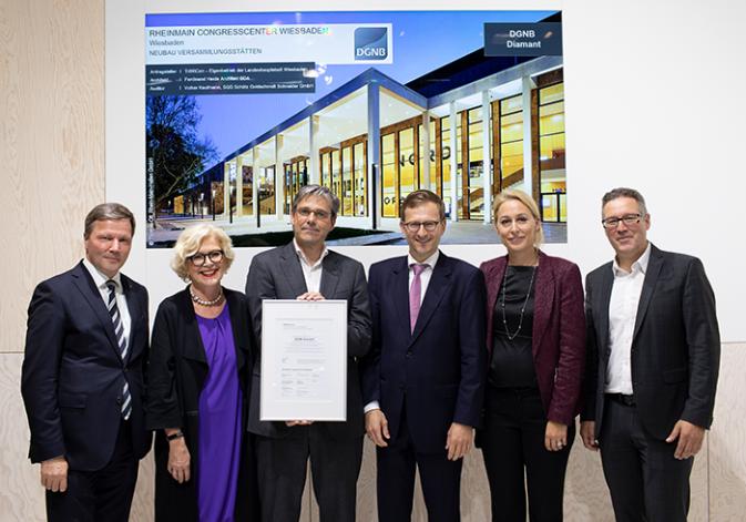 DGNB Diamant für das RheinMain CongressCenter in Wiesbaden