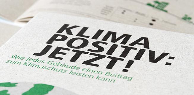 Eine Broschüre rund um konsequenten Klimaschutz