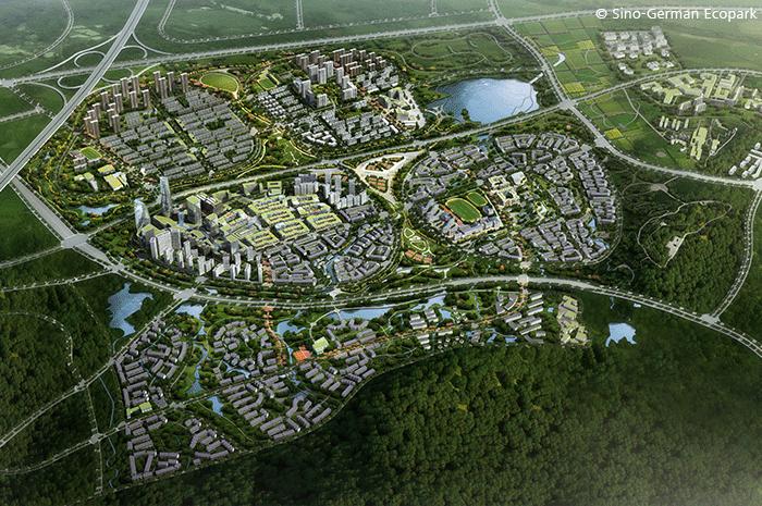 Neben Gebäuden wird auch die DGNB Quartierszertifizierung international angewendet. In China ist z.B. erst kürzlich das geplante Stadtquartier SINO-GERMAN FUTURE CITY Sino German Ecopark Quingdao District D1+D2 mit der höchsten Auszeichnungsstufe DGNB Platin vorzertifiziert worden.