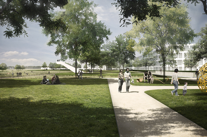 Quartiersplanung Zukunft Nord Karlsruhe Rendering