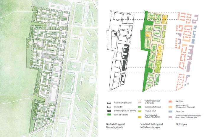 Quartiersplanung Zukunft Nord Karlsruhe Rahmenpla und Grundrissn