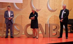 Vertreter von drei der elf ersten Städte waren vor Ort und sprachen bei der Auftaktveranstaltung zur World Green Building Week 2020 mit DGNB Vorstand Christine Lemaitre über die Initiative.