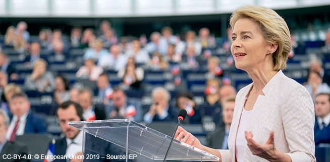 Ursula von der Leyen // CC-BY-4.0: © European Union 2019 – Source: EP