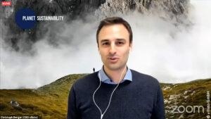 """vilisto-Gründer Christoph Berger schilderte, wie es zu der Idee """"Planet Sustainability"""" kam."""