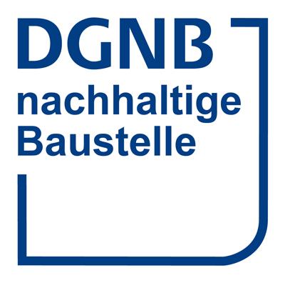 """Logo der DGNB Zertifizierung """"Nachhaltige Baustelle"""""""